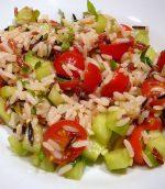 Salade aux 3 riz, blanc, rouge et sauvage
