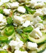 Salade de courgettes menthe citron