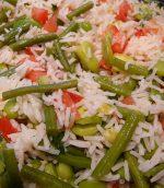 Salade de riz aux légumes croquants