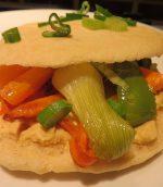Pitas aux légumes grillés