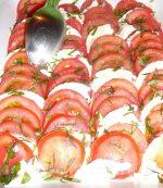 Insalata caprese Tomates mozarella