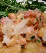 Salade de pomme de terre poulet et lardons