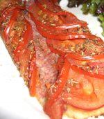Tarte aux tomates et jambon cru