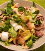 Salade de mâche aux champignons