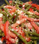 Salade de haricots verts et tomates