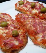 Bruschetas tomate, coppa