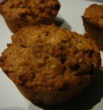 Muffins aux flocons d'avoine et cranberries