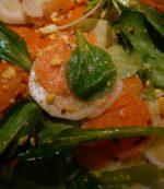 Salade de Mâche et radis violet